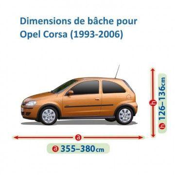 Bâche pour Opel Corsa