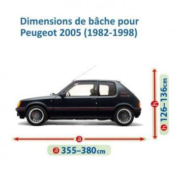 Bâche pour Peugeot 205