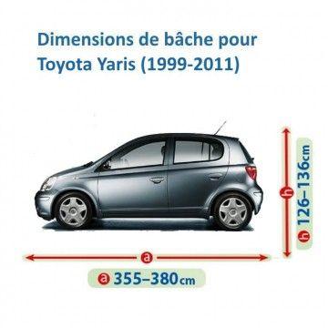 Bâche pour Toyota Yaris