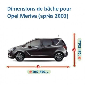 Bâche pour Opel Meriva