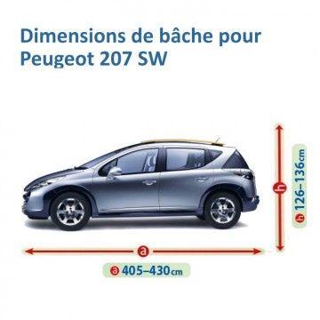 Bâche pour Peugeot 207 SW