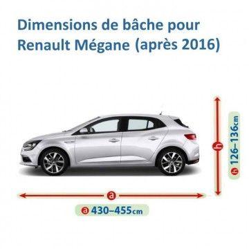 Bâche pour Renault Mégane et Mégane coupé