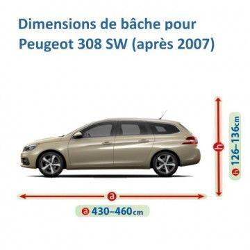 Bâche pour Peugeot 308 SW
