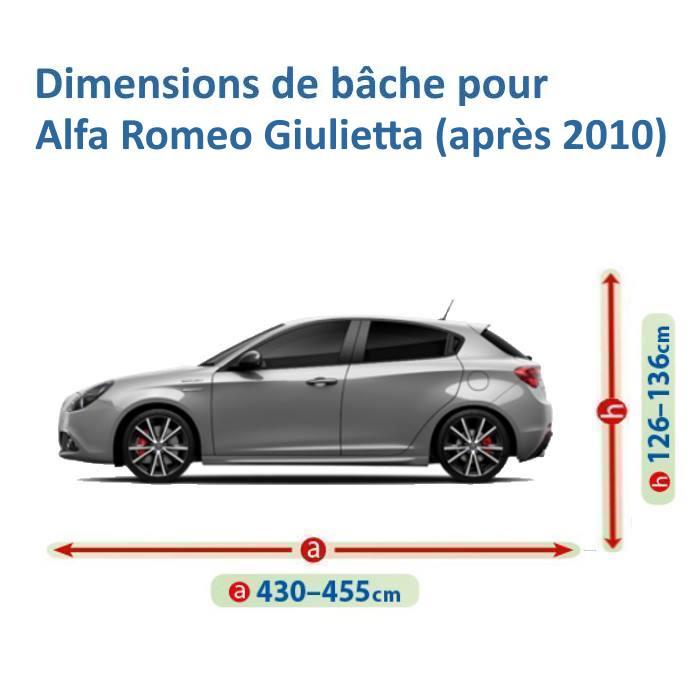 bache pour alfa romeo giulietta